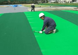人工芝貼り工事1