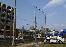 防球ネット設計・施工工事4