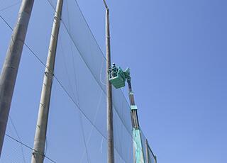 グラウンド防球ネット設置イメージ2