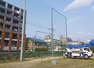 グラウンド防球ネット設置イメージ3