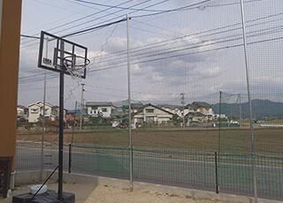 住宅敷地内での防球ネット例2