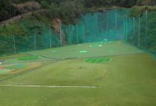 豊南ゴルフセンター様、人工芝張替工事