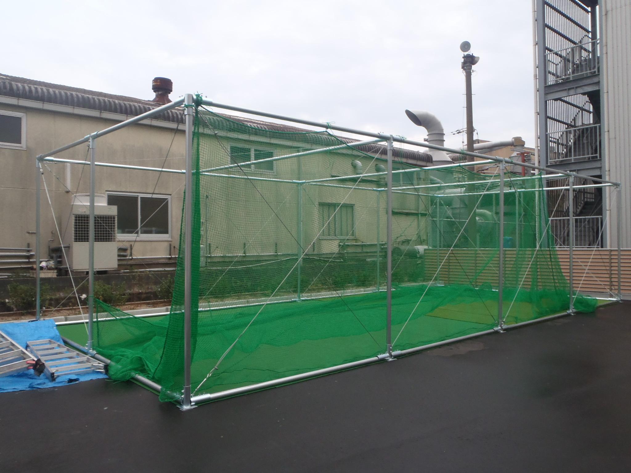 タキゲン福岡支店様 インドアゴルフネット新設工事 image2