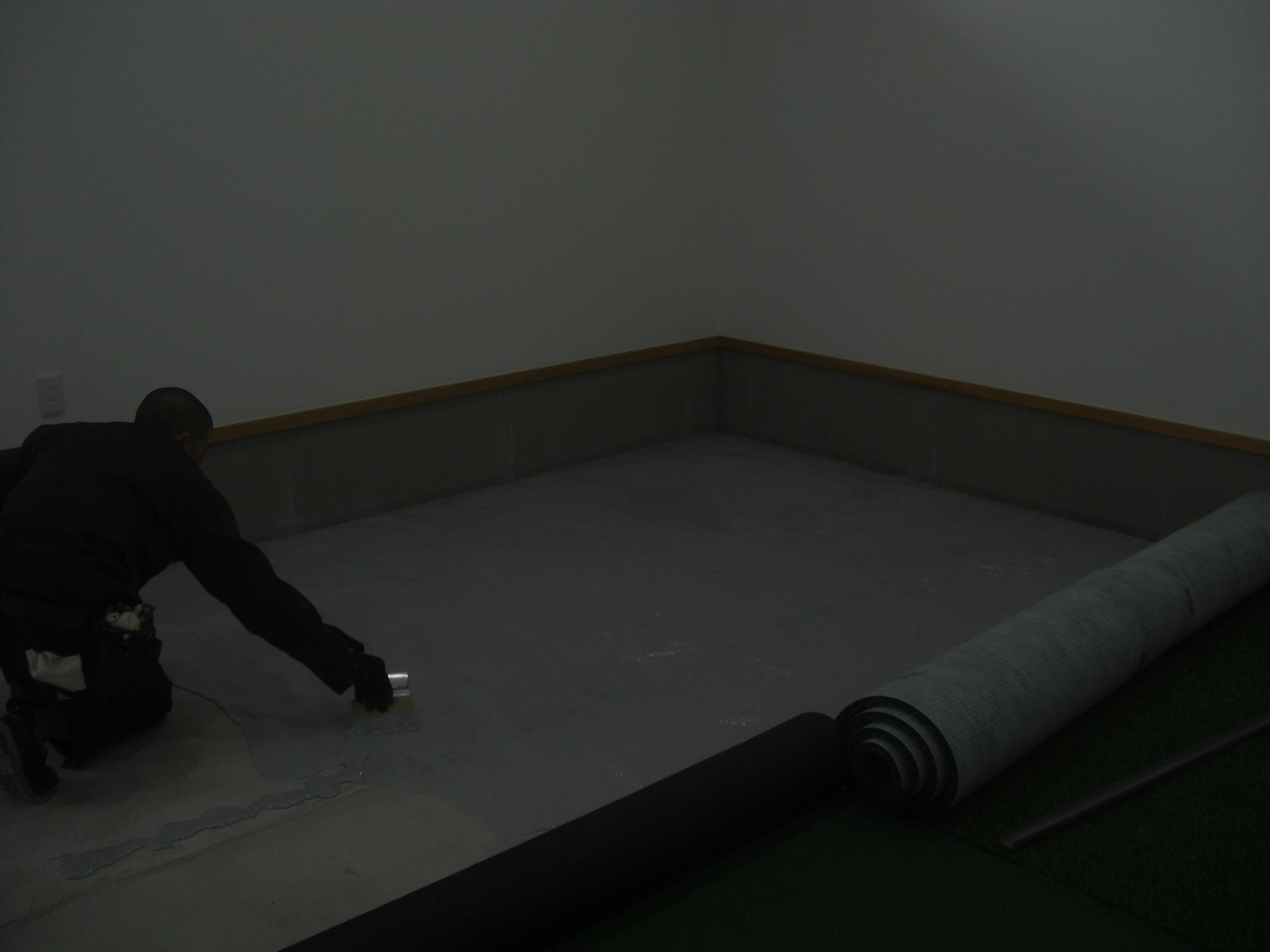 インドアネット、人工芝工事 image1