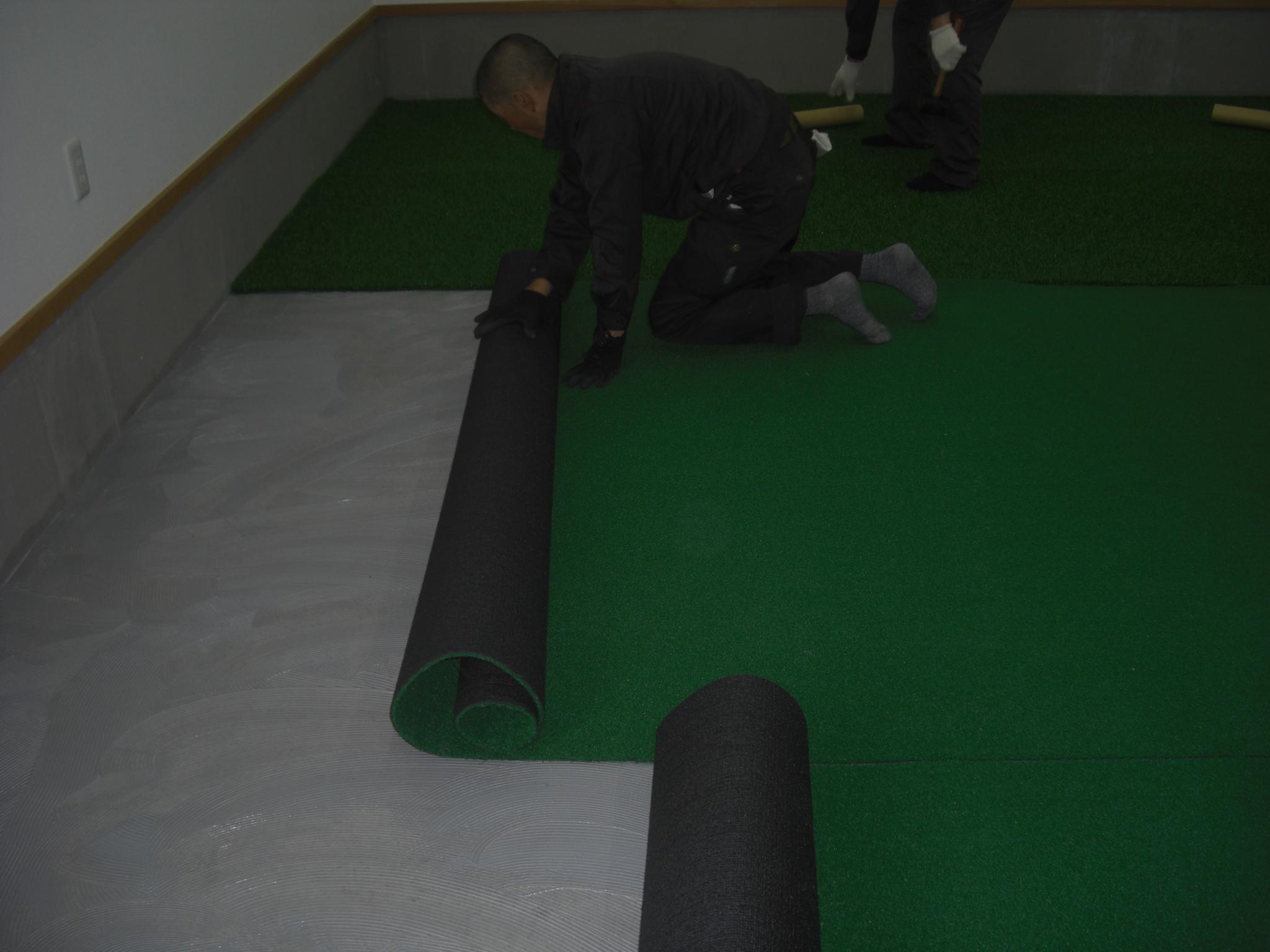 インドアネット、人工芝工事 image2
