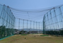 天井ネットボール落とし穴設置工事