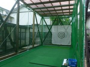 インドアゴルフネット設置工事の施工実績を更新しました。