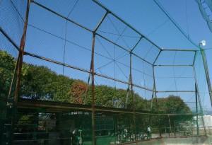 防球ネット補修工事
