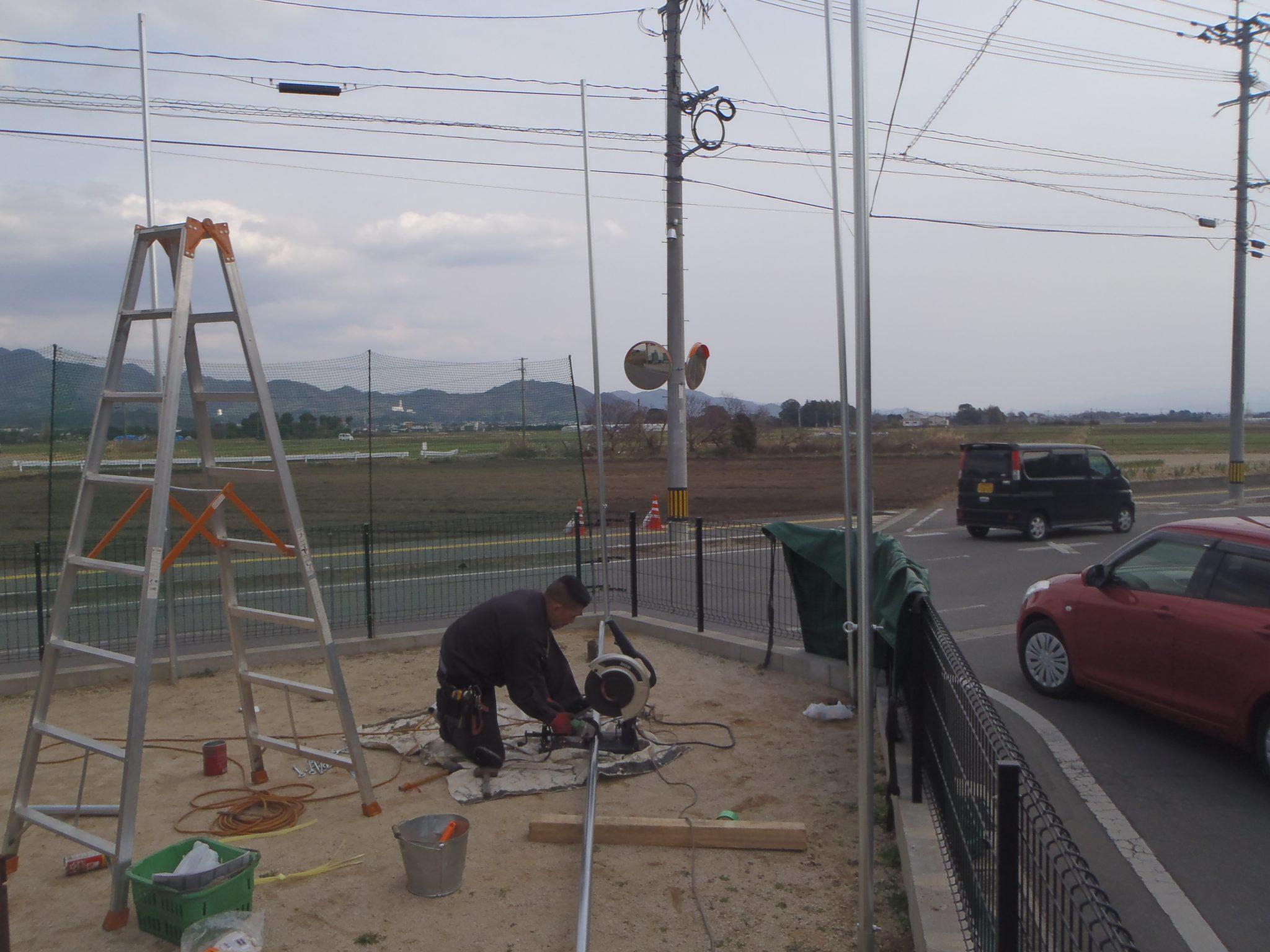 個人宅防球ネット設置工事 image3