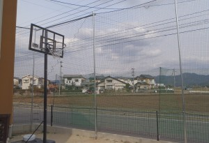 個人宅防球ネット設置工事