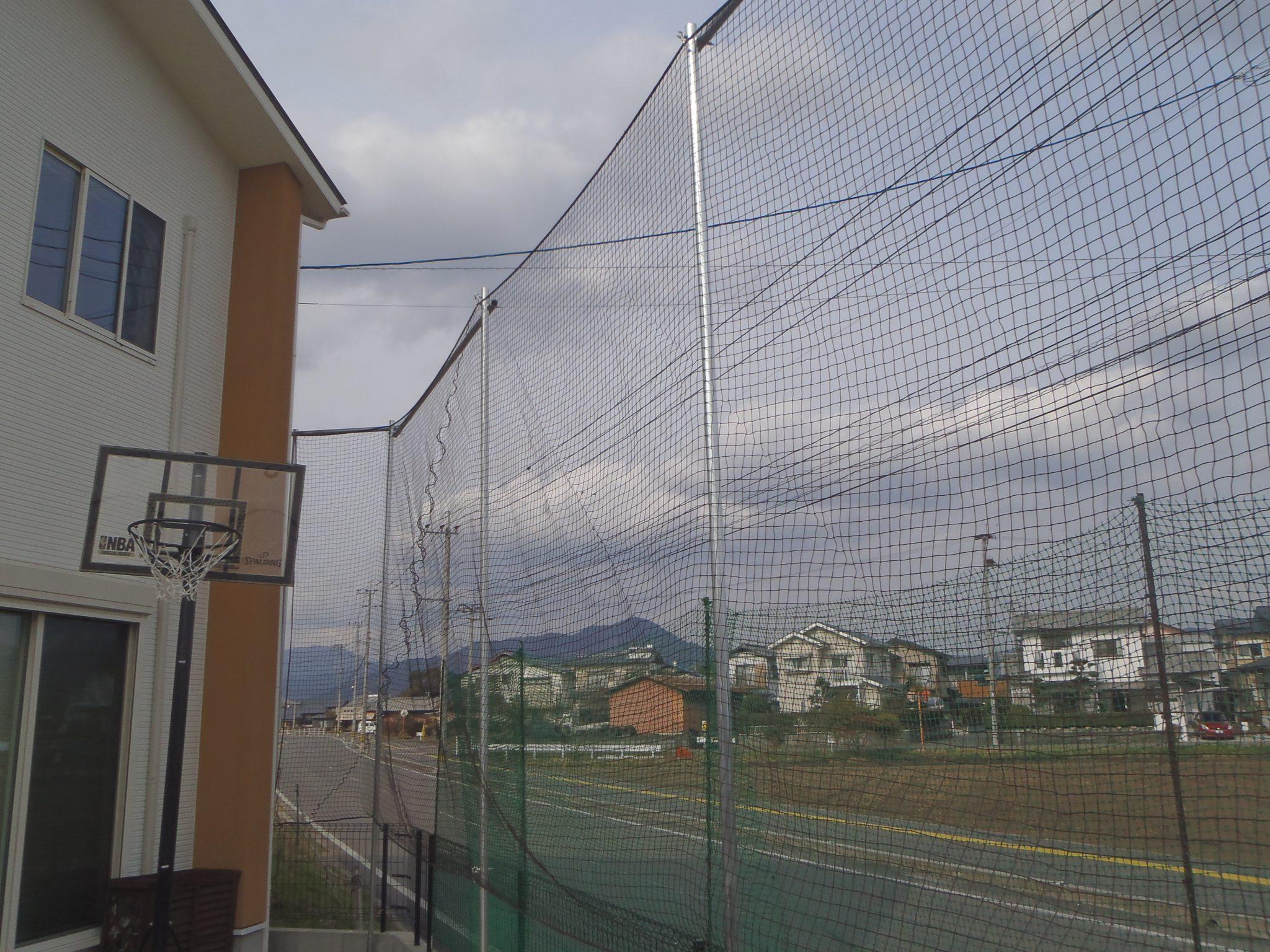 個人宅防球ネット設置工事 image2