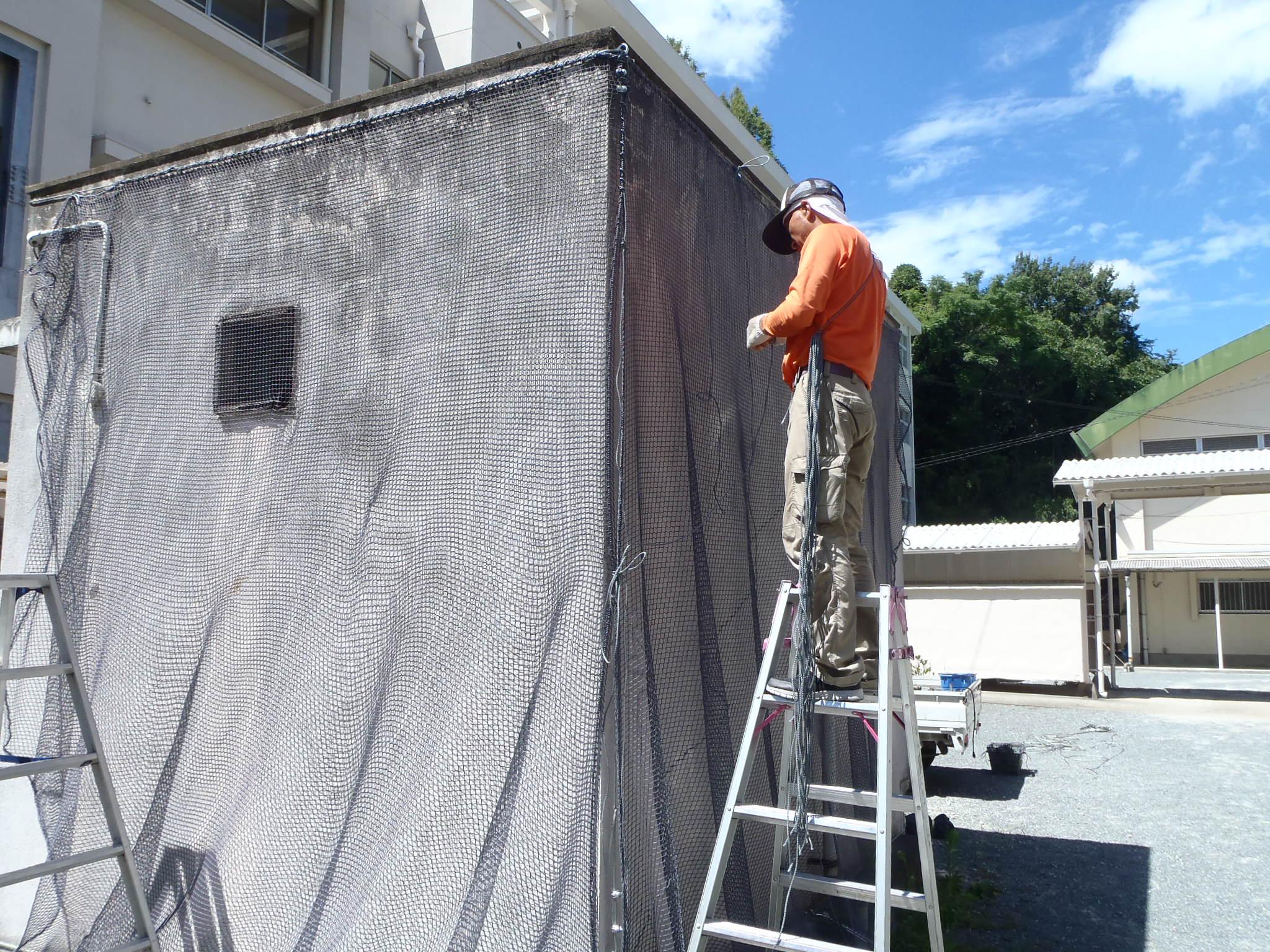 外壁剥落防止ネット設置工事 image3