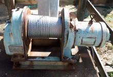 巻ワイヤー交換工事を行いました。