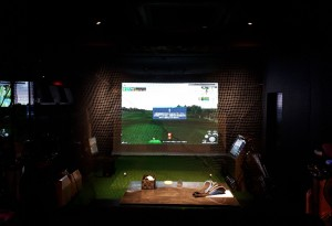 シュミレーションゴルフネット設置工事