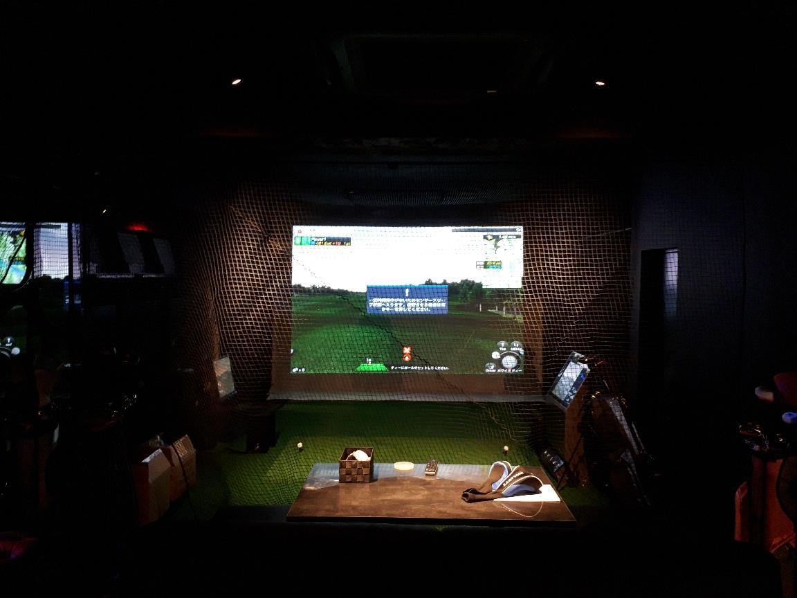 シュミレーションゴルフネット設置工事 image1