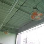 打席内扇風機交換工事 image2