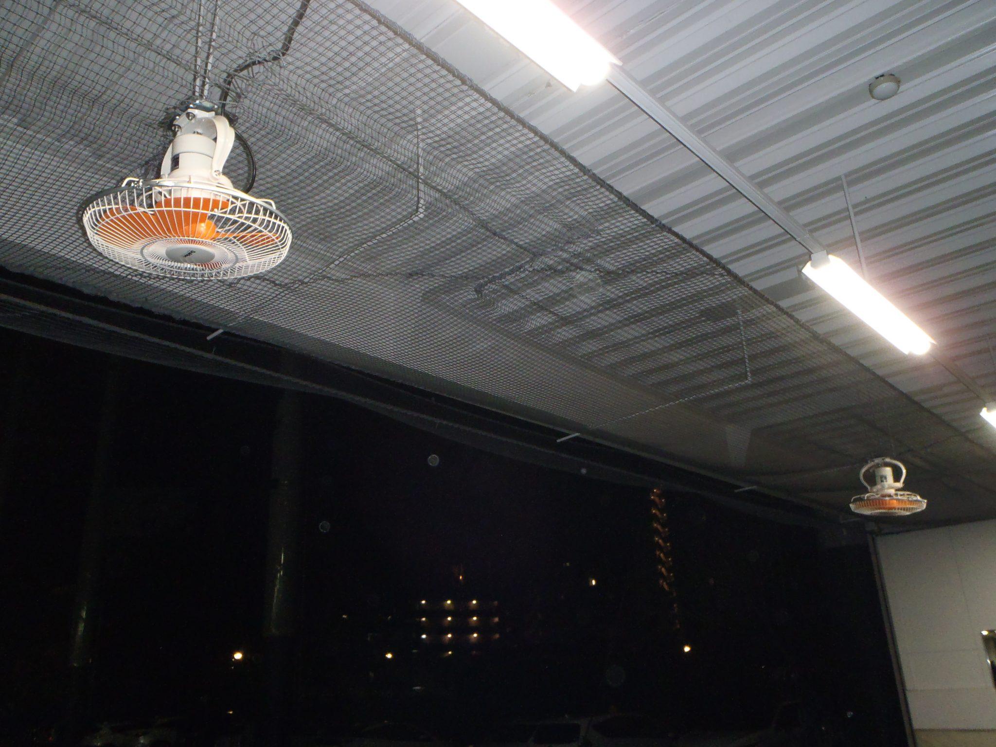 打席内扇風機交換工事 image1