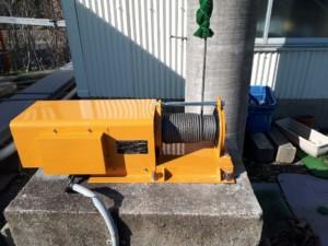 電動ウィンチ交換工事の施工実績を更新しました。