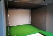 個人宅シュミレーションゴルフネット設置工事