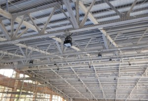 天井防球ネット設置工事