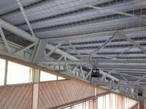 天井防球ネット設置工事の施工実績を更新しました。