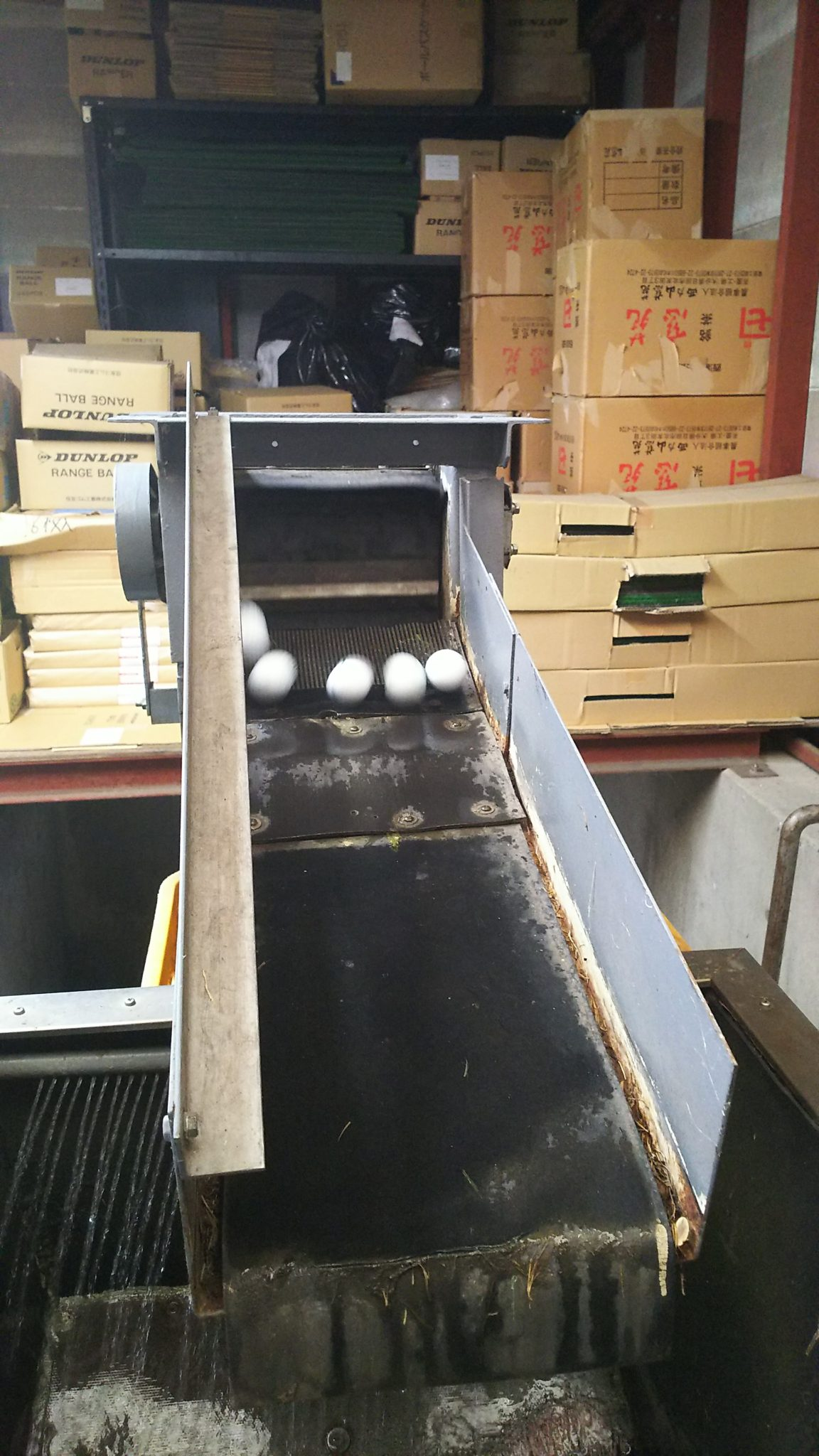ボール送球用ゴムバケット交換工事 image5