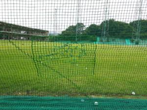 防球ネット補修工事の施工実績を更新しました。