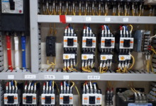 送球制御盤電子部品交換