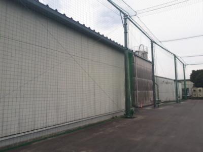 飛散物防止ネット設置工事の施工実績を更新しました。