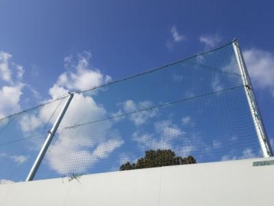 テニスネット張替工事の施工実績を更新しました。