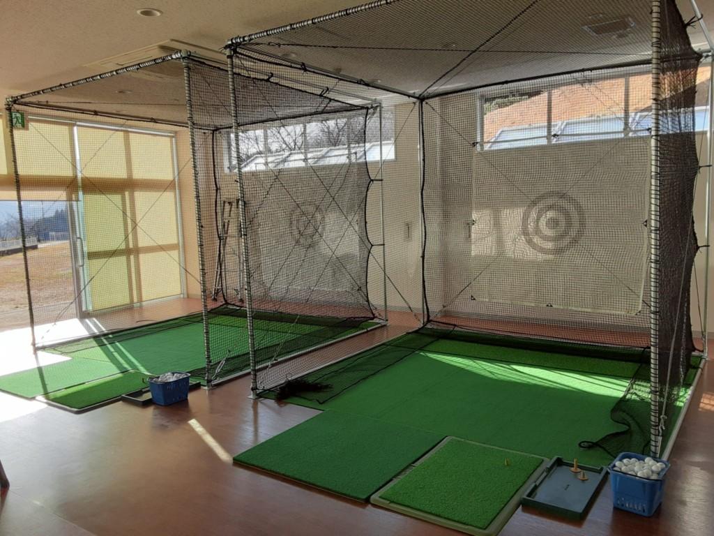 温泉施設内インドアゴルフネット設置工事