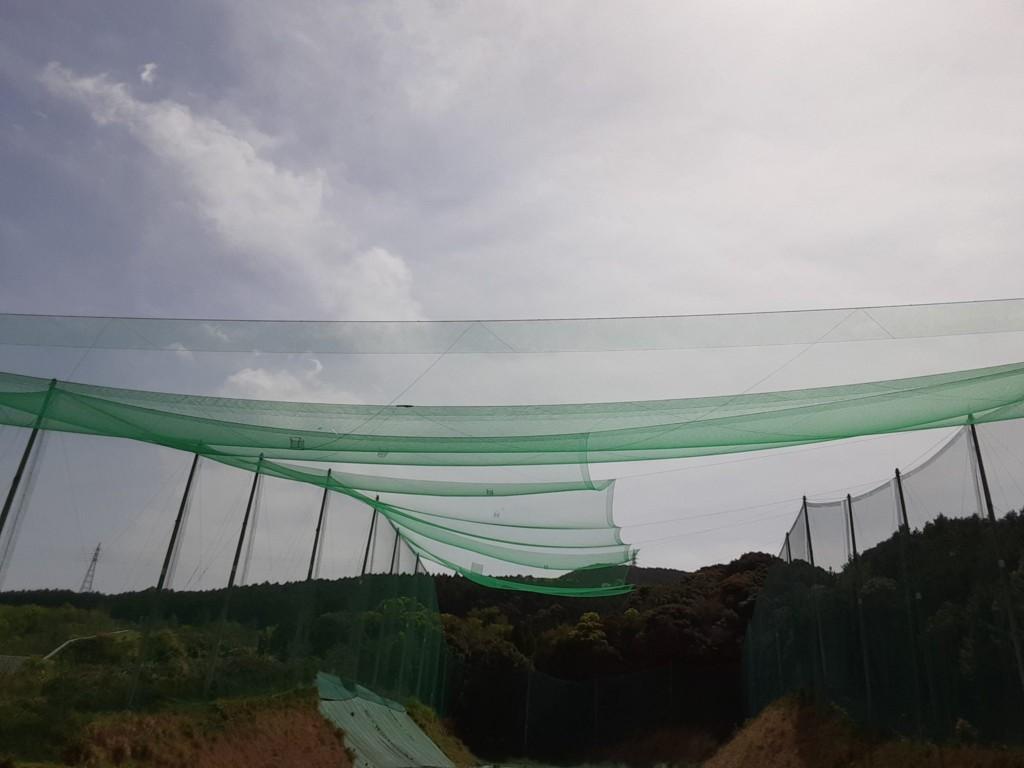 巻きワイヤー交換及び天井ネット補修工事