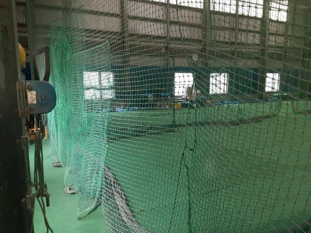 防球ネット改良工事