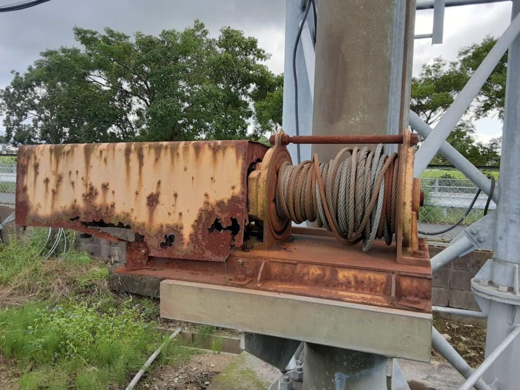 電動ウインチ交換工事