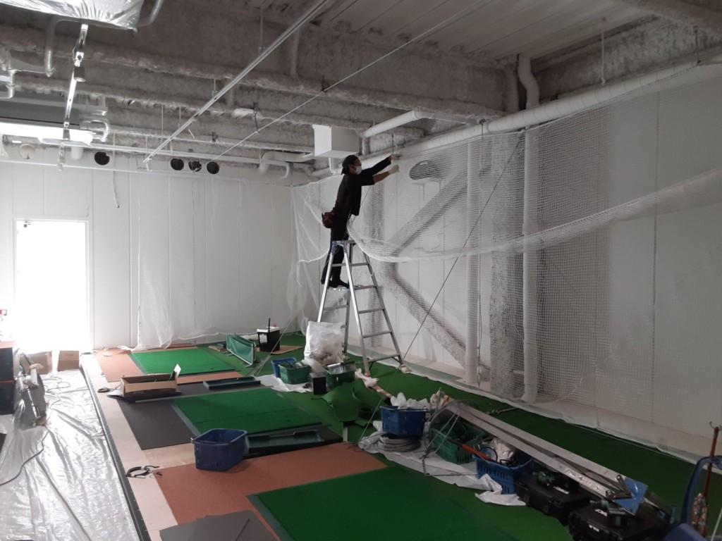 インドアゴルフ練習場新設工事